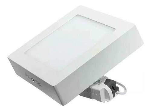 foco panel plafón led 18w sobrepuesto cuadrado luz fría /028