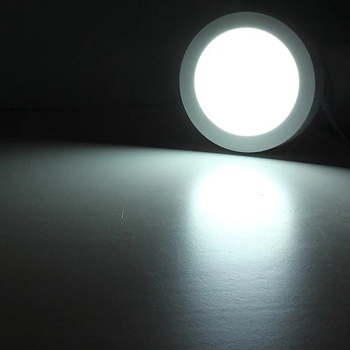 foco panel plafón led 18w sobrepuesto redondo frío / 003027