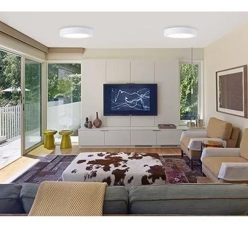 foco panel plafón led 18w sobrepuesto redondo luz frio / jc