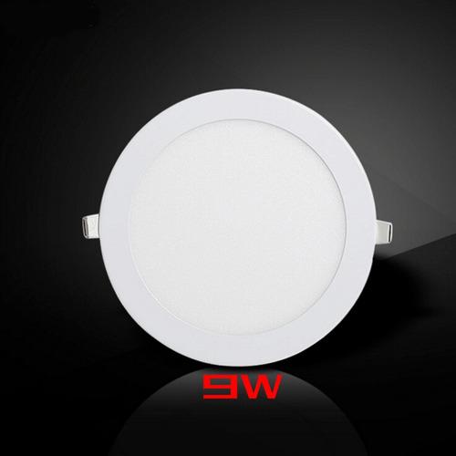 foco panel plafón led 9w embutido redondo luz frío / 053