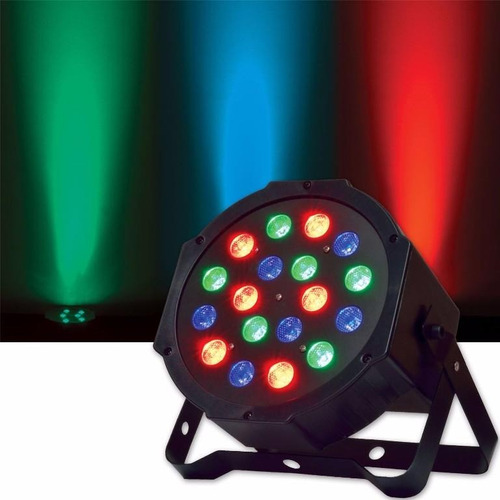 foco par 18 led luminosidad rgb dmx