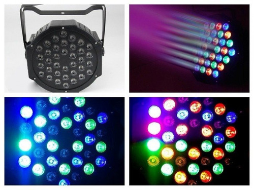 foco par led 36 dmx alto brillo rgb disco fiesta luces