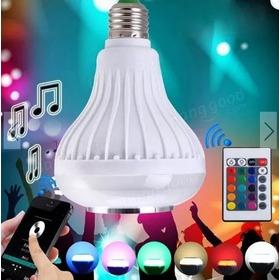 Foco Parlante Bluetooth Colorido Led+control Domicilio