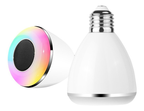 foco parlante bluetooth luz led android  iphone itelsistem