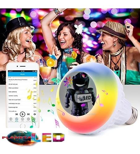 foco parlante bluetooth multicolor led inteligente+control