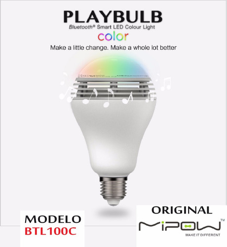 foco parlante mipow color led playbulb bluetooh android ios