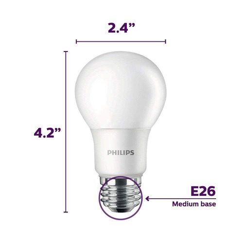 foco philips 455576 equivalente a 60 w a19 bombilla led