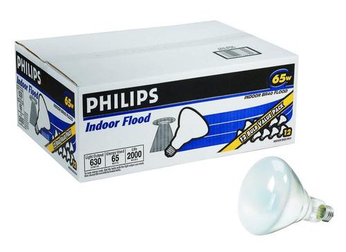foco philips br40 387795 interior blanco suave 65w 12 uds.