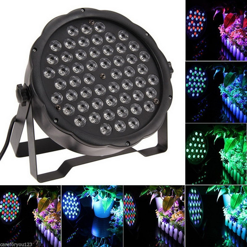 foco slim par 54 led rgbw luces de fiesta
