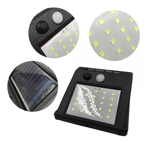 foco solar 20 leds con sensor movimiento exterior
