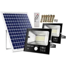 Foco Solar 25w Con Panel Y Control Remoto + Accesorios.