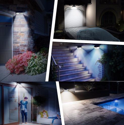 foco solar 30 leds para jardin imper. gran angulo {mikro.cl}