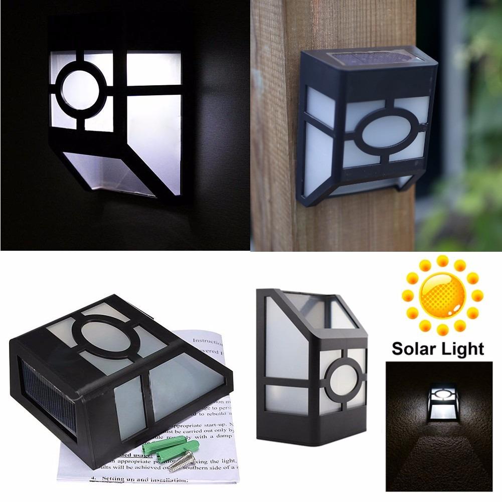 Foco solar de 4 led para exterior el container for Focos de led para exterior
