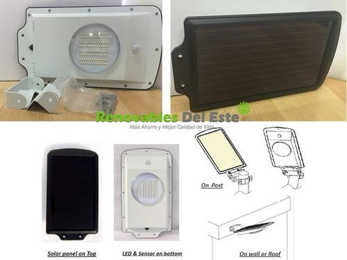 foco solar led con sensor de movimiento seguridad sin cables