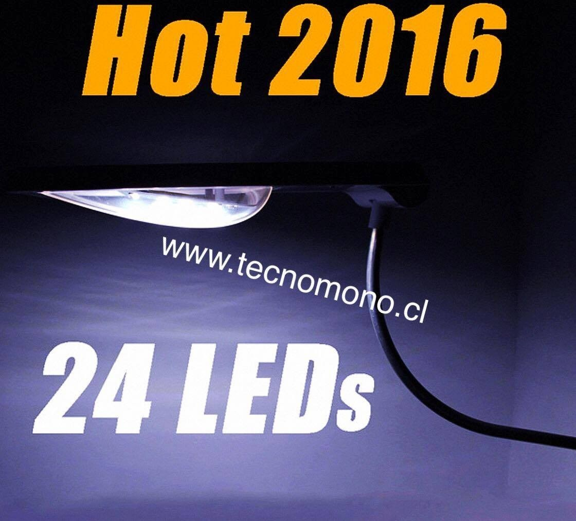 Foco solar led iluminaci n exterior max 24led facil for Iluminacion exterior solar