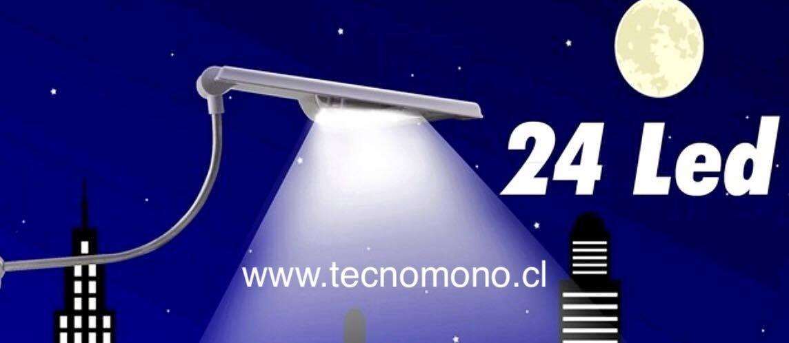 Foco solar led iluminaci n exterior max 24led facil - Iluminacion exterior led solar ...