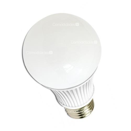 foco tipo bulbo 12w e27 luz blanca aluminio y plastico ahorr