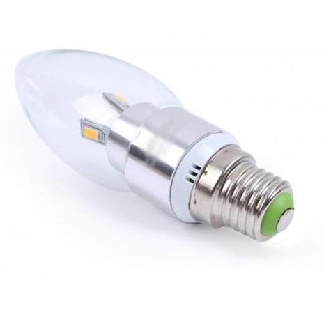 Foco tipo vela led e 27 3w luz blanca o calida vida for Luz blanca o calida