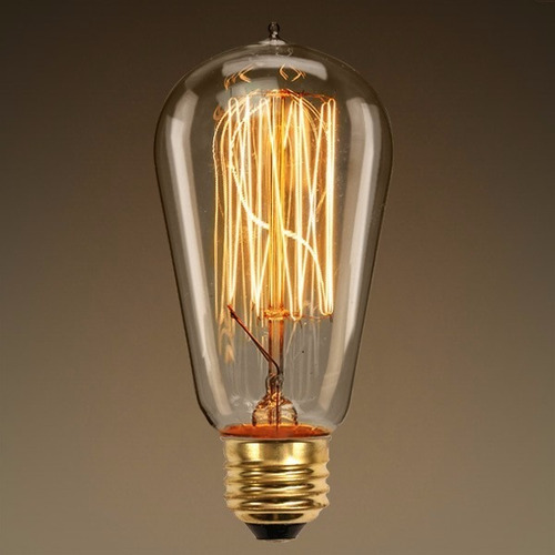 foco vintage filamento lámpara carbono edison luz calida e27