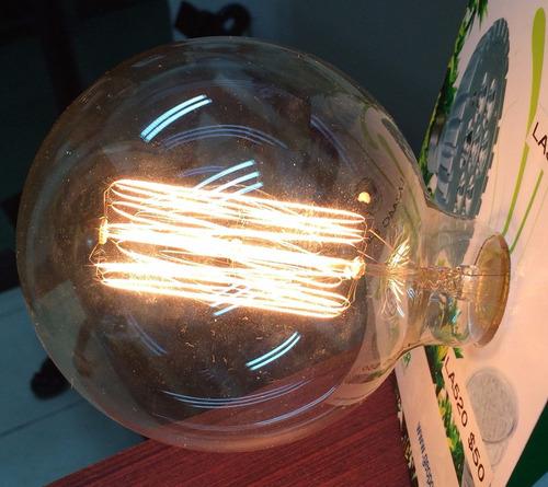 foco vintage retro edison tipo g125 globo filamento 60 watts