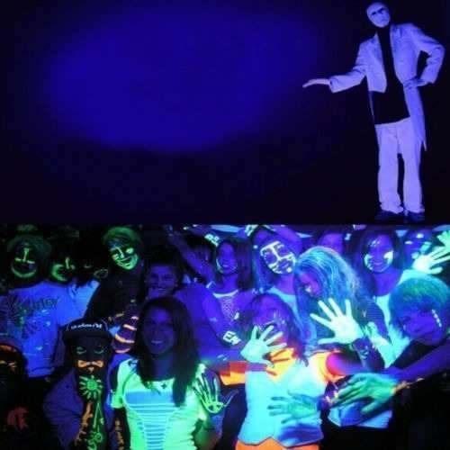 foco18 led uv negro luz dmx fiesta fluor ml2358