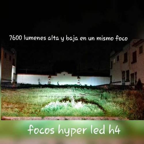 focos led h1 can-bus de 7600 lumenes