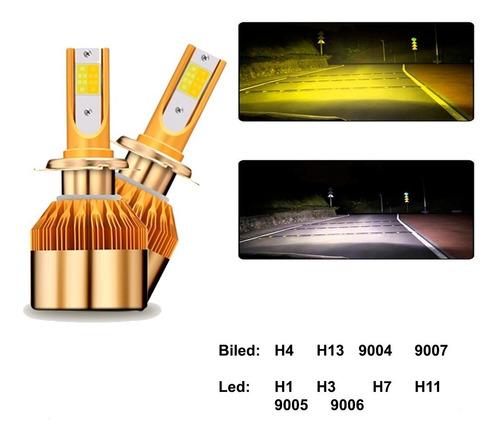 focos led h4 36w 8600 lm 12v bicolor potente varios modelos