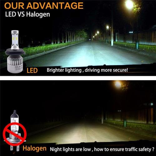 focos led luces auto camioneta moto h1 h3 h7 h11 9005 9006