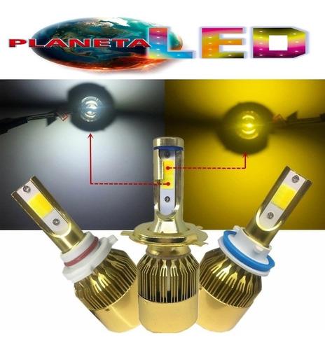 focos led luces h4 h1 h3 h7 h11 9006 bicolor 72w 8600lm