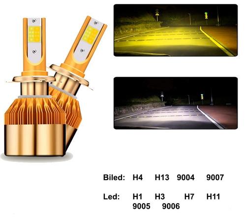 focos led luces h4 h1 h7 h11 9006 bicolor 80w 8600lm