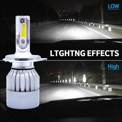 focos luces led h1 h3 h4 h7 h8 h11 9006 880 881 72w 7600 lm