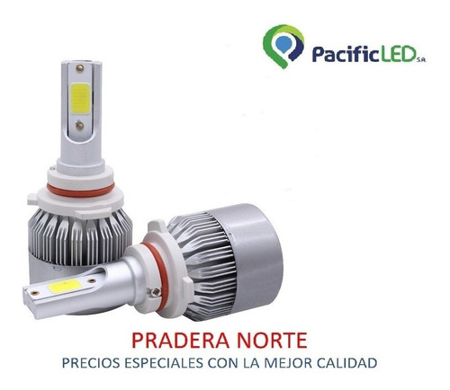 focos luces led h1 h4 h7 hb3 9005 72w 7600 lm