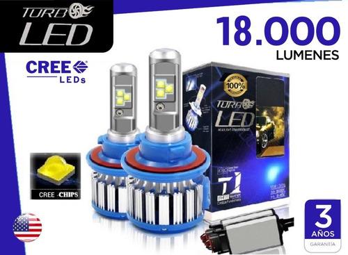 focos luces turbo led original (18.000 lumens) h4,h13,9005..