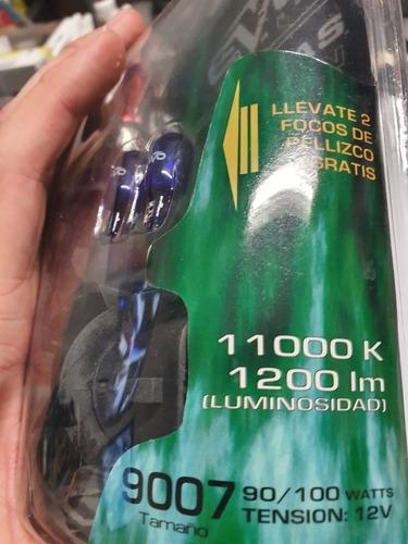 focos tipo xenón spectras evo 9007 verde foco pellizco luz