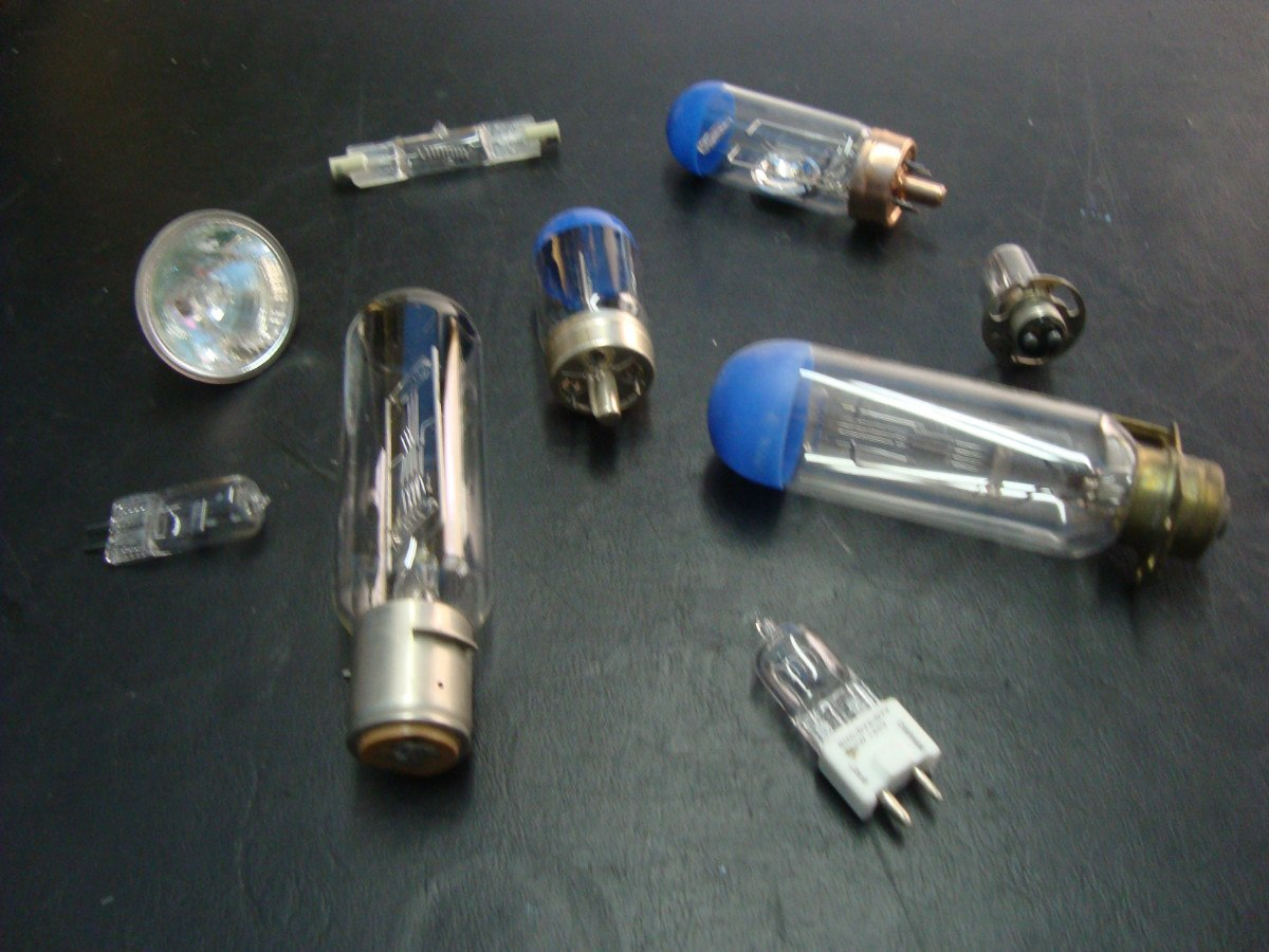 Focos y l mparas para proyectores antiguos en for Lamparas de focos