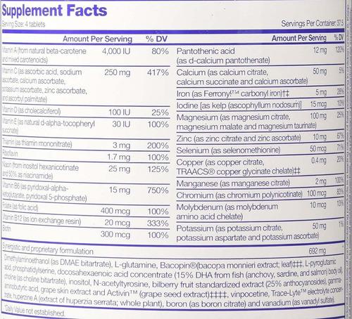 focus factor suplemento 150 tab para el cerebro