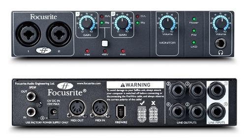 focusrite - interface de áudio firewire saffire