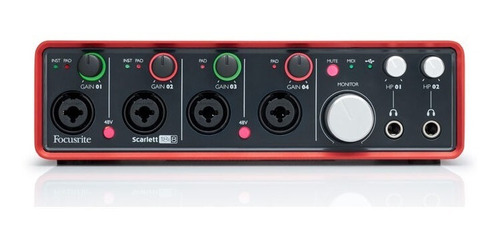 focusrite scarlett 18i8 interface usb placa de sonido