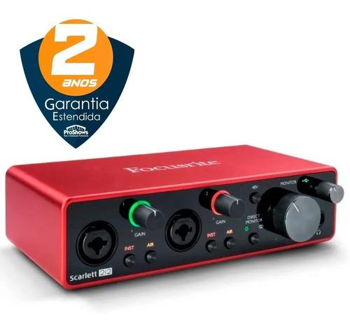 focusrite scarlett 2i2 3 geraçao interface audio