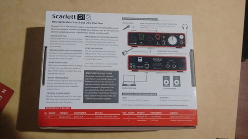 focusrite scarlett 2i2 mkii, interface de audio 2 i/o