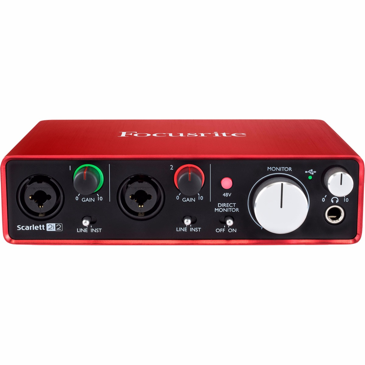 focusrite scarlett 2i2 placa de audio interface usb 2 geraca r 850 00 em mercado livre. Black Bedroom Furniture Sets. Home Design Ideas