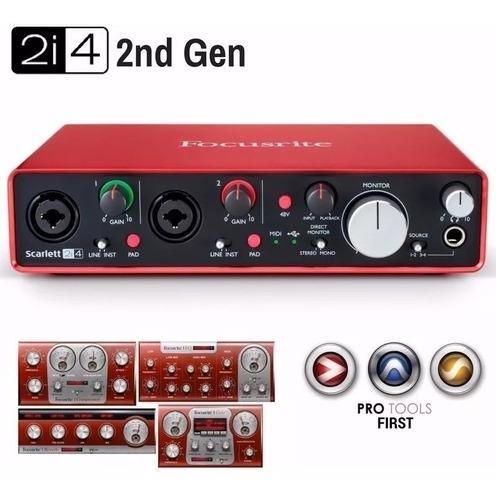 focusrite scarlett 2i4 2da generacion placa de sonido cuotas