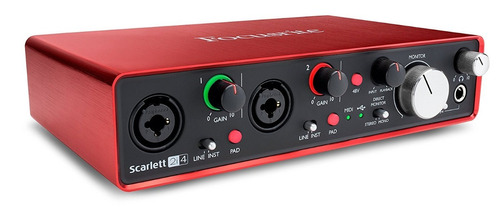 focusrite scarlett 2i4 interface grabación usb2.0 housemusic