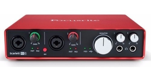 focusrite scarlett 6i6 usb 2.0 2da gen. interface audio usb