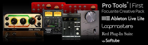 focusrite scarlett solo g2 placa de audio y cable xlr