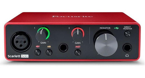 focusrite scarlett solo interface audio usb 2 entrada 3ra gn