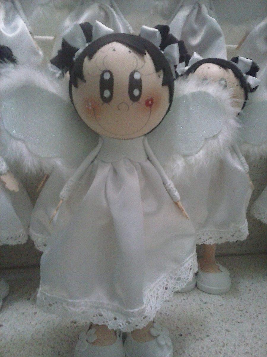 Fofucho fofucha angelito baby shower bautizo presentacion - Manualidades para comunion de nina ...