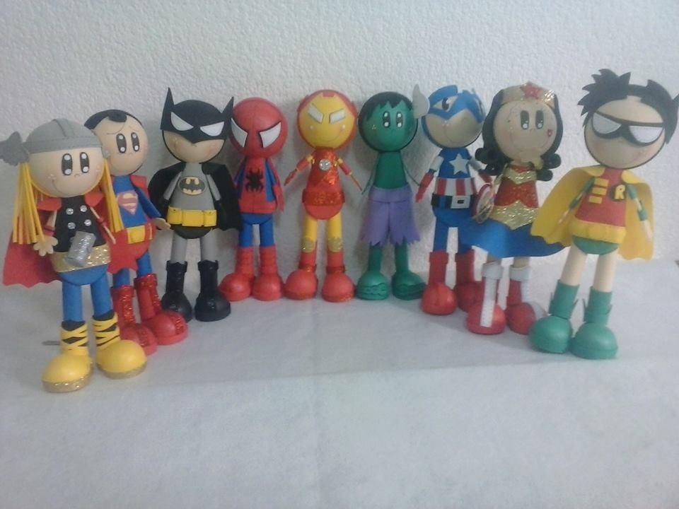 Fofuchos Super Heroes Hombre Araña Thor Capitan America Iron ...