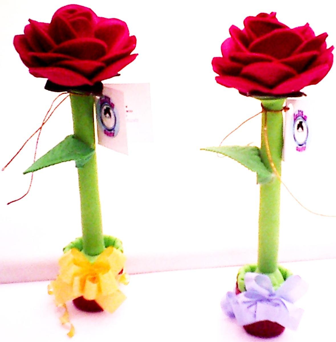 Fofupluma rosa una til pluma decorada como flor en fomi - Como secar una rosa ...