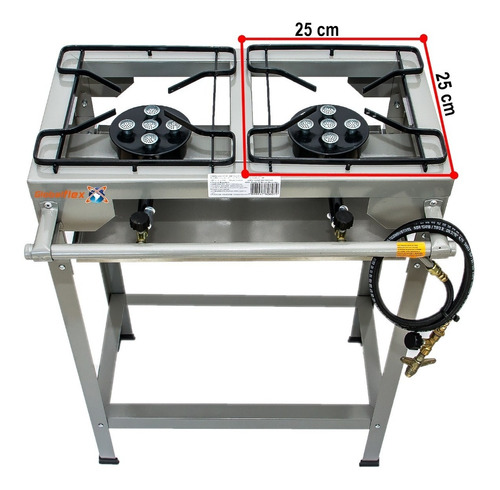 fogao 2 bocas industrial alta pressao kit instal nbr 13419